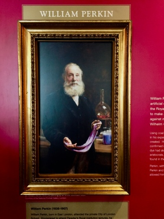 "William Perkin's Portrait with ""Perkin's Purple""/ ""Mauvine"""