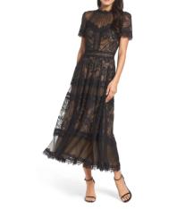 Lace Midi Dress TADASHI SHOJI https://shop.nordstrom.com/s/tadashi-shoji-lace-midi-dress/4579780?origin=category-personalizedsort&breadcrumb=Home%2FWomen%2FClothing%2FDresses&color=black%2F%20nude